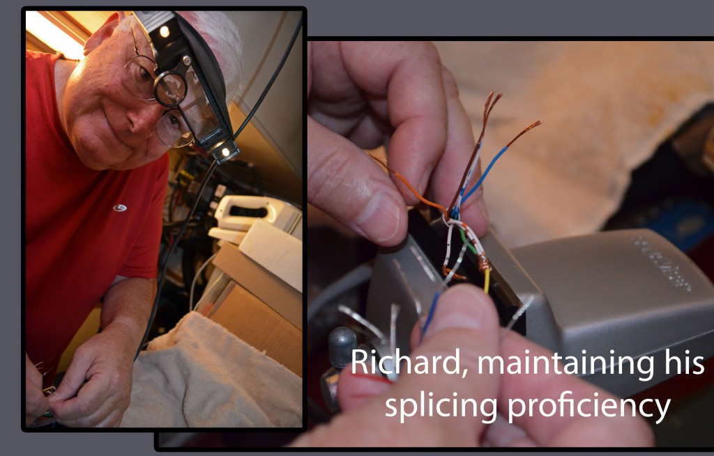The next time there's an undersea fiber cut, Richard is ready to splice!