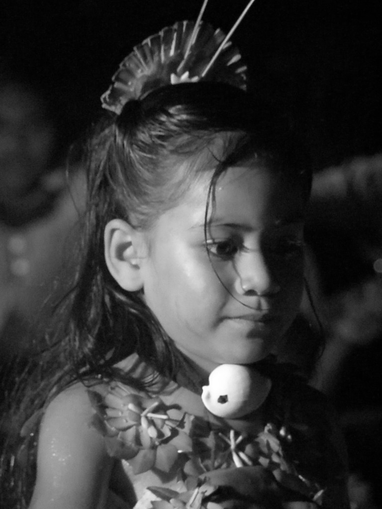 One of the dancers at our evening on Utalei Island. (She's 4 years old)