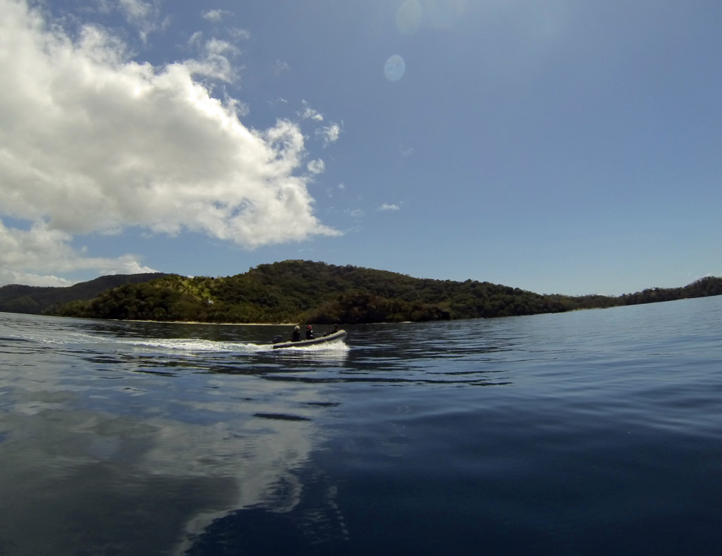 Heading out to the dive site