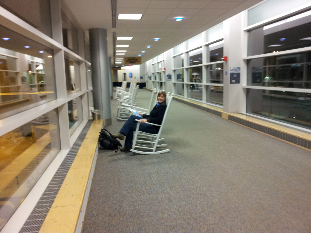 Greenville/Spartanburg South Carolina airport has ROCKING CHAIRS!
