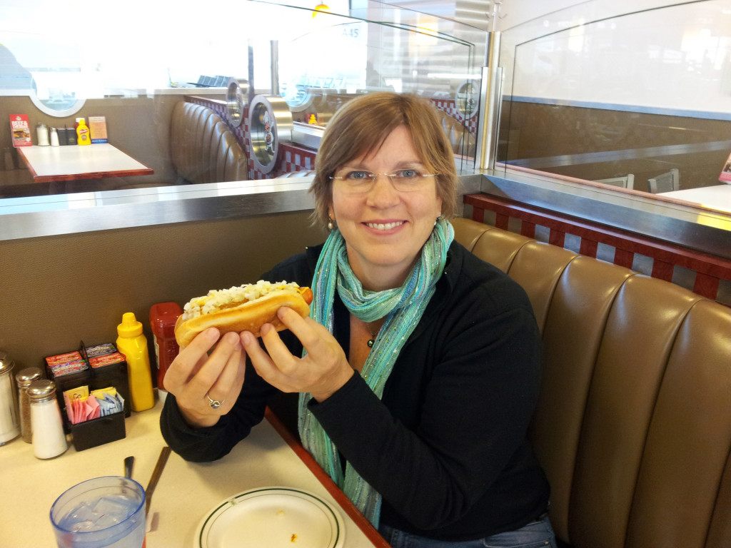 Coney Dog in Detroit!  Mm, mmm, GREAT!